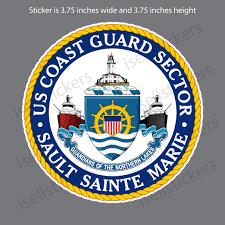 Us Coast Guard Sault Sainte Marie Bumper Sticker Window Decal