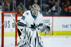 San Jose Sharks Aaron Dell plays during Editorial Stock Photo ...