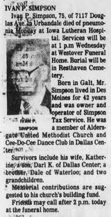 Ivan Powell Simpson (1909-1984) obituary - Newspapers.com
