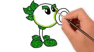 Draw PeaShooter in Plants vs Zombies | Vẽ Cây Bắn Hạt Đậu Trong ...