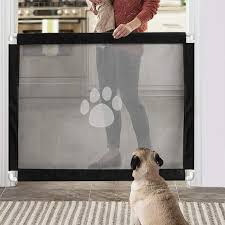 Magic Gate For Dogs Lock Pvc Screen Dog Gates For Indoor Pet Safety Gate Portable Easy Install 39 3 31 5 Walmart Com Walmart Com