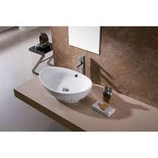 porcelain ceramic oval vessel bathroom