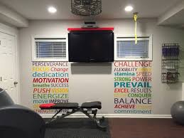 Gym Wall Decal Words Motivational Fitness Quote Word Decals