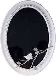 z jingzi white oval decor wall mirror