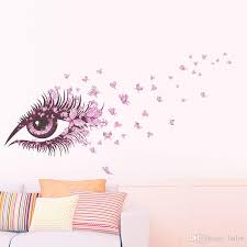 Sexy Girl Eyes Butterfly Wall Stickers Living Bedroom Girls Room Decor Decoration Diy Home Decals Mual Poster Adesivo De Paredes Wall Stencils And Decals Wall Stencils Stickers From Lotlot 2 19 Dhgate Com
