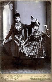 Sisters Flora Agnes and Constance Priscilla McDonald, circa 1890's,  Aberdeen, Scotland. | Highland dance, Vintage scotland, Scotland history