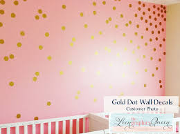 Gold Dots Wall Decals Set Of 200