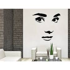 Shop Makeup Wall Decal Vinyl Sticker Decals Home Decor Mural Make Up Girl Eyes Woman Fashion Sticker Decal Size 22x26 Color Black Overstock 14049066