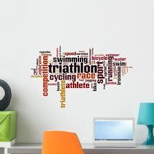 Triathlon Word Cloud Wall Decal Wallmonkeys Com