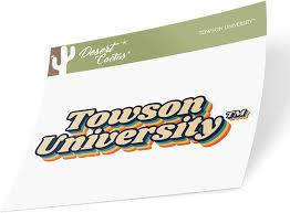Amazon Com Towson University Tu Tigers Ncaa Vinyl Decal Laptop Water Bottle Car Scrapbook 70 S Name Sticker Sports Outdoors