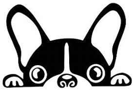 Amazon Com Kiskistonite Peeking Dog Vinyl Decal French Bulldog Frenchie Boston Terrier Dog Laptop Window Sticker Tumbler Decal Animal Lover Animal Rescue Decal For Wall Bedroom Macbook 5 Inches Home Kitchen