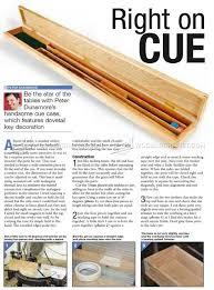 594 cue case plans woodworking plans