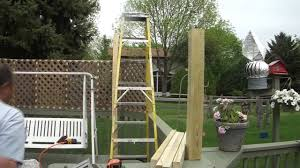 How To Install A Wood Lattice Fence On Your Deck Youtube