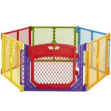North States Superyard Colorplay Ultimate Freestanding 6 Panel Playpen Multi Color 30 X 26 Walmart Com In 2020 Baby Play Yard Baby Gates Play Yard