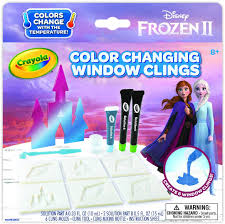 Amazon Com Crayola Frozen 2 Window Clings Color Changing Custom Window Clings Frozen Gift Age 8 9 10 11 Toys Games
