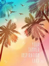 Ilustracion De Playa De Verano Tarjeta De Inspiracion Para Boda