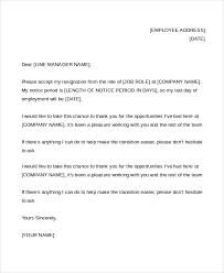 sle letter of resignation in ms word