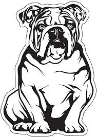 Amazon Com Diecut English Bulldog Decal Dog Bumper Sticker Perfect For Laptops Tumblers Windows Cars Trucks Walls Arts Crafts Sewing