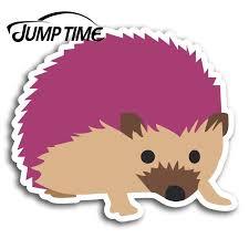 Jump Time Cute Pink Hedgehog Vinyl Stickers Sticker Laptop Luggage Gift Car Assessoires Window Decals Car Wrap Diy Car Stickers Aliexpress