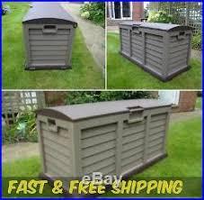 plastic garden storage box lockable