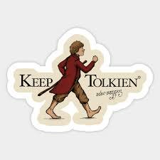 Keep Tolkien Movie Sticker Teepublic Uk