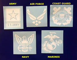Amazon Com Military Branch Decal Marines Navy Army Coast Guard Air Force Decals Stickers Window Decal Yeti Decal Tumbler Sticker Handmade
