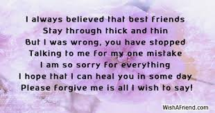 i am sorry messages for friends