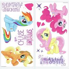 My Little Pony The Movie Peel And Stick Wall Decals With Glitter Peel And Stick Decals The Mural Store