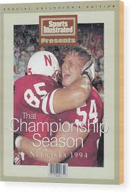University Of Nebraska Aaron Graham And Matt Shaw, 1995 Sports Illustrated  Cover Wood Print by Sports Illustrated