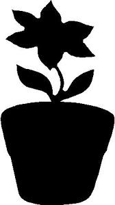 Flower Pot Decal Sticker 02