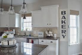 farmhouse style kitchen white cabinets