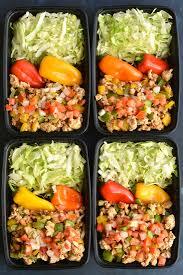 meal prep turkey taco bowls low carb