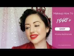1940s vine makeup tutorial a simple