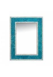 turquoise led mosaic mirror