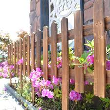Wooden Picket Fence Plug In Wooden Fence Weatherproof Impregnation Garden Lawn Edging Yard Outdoor Tree Fencing 50cm 100cm Lazada Ph