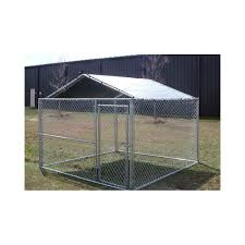 10 X 10 Kennel Cover Silver Hoover Fence Co