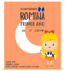 Invitacion Cumpleanos Sailor Venus Diseno Digital Personalizable