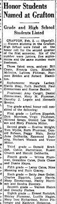Duane Hayes 1937 Grafton honor student - Newspapers.com