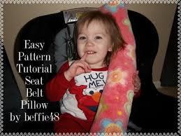 car seat belt pillow pattern tutorial