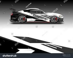 Decal Simple Racing Car Design Vector Stock Vector Royalty Free 1307147509