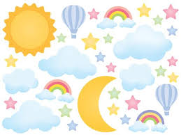 Dreamy Sun Moon Stars Wall Decal Sticker Set Wall Decal Wallmonkeys Com
