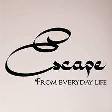 Amazon Com 24 X13 Escape From Everyday Life Spa Bathroom Wall Decal Sticker Art Mural Home Decor Soak Relax Vacation Home Kitchen