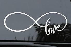 Love Infinity Symbol Decal Tattoo Girls Car Window Wall 4x4 6 90 Picclick Au