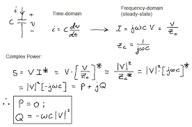 reactive power of a capacitor