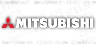 Mitsubishi Decal Emblem Logo