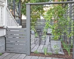Screen Off Garbage Washing Line Area With Wire Climber Wall Modern Landscaping Backyard Fences Fence Design