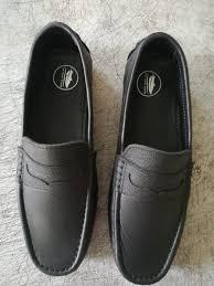 mens leather casual shoes men black