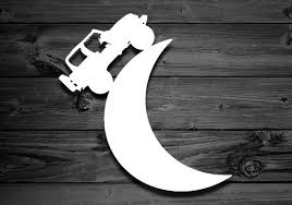 Moon Vinyl Decal For Wranglers Car Decal Moon Decal Crescent Moon Decal Moon Sticker Crescent Decal Gift For Mom Offroad Accessories Moon Decal Jeep Decals Jeep Stickers