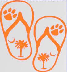 Clemson South Carolina Flip Flops Beach Vinyl Sticker Decal Logo Truck Car 103 Ebay
