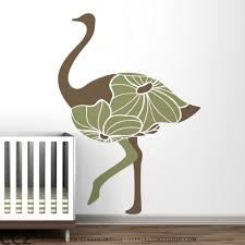 Floral Ostrich Large Wall Deca Cargoh